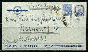 BRAZIL RIO DE JANEIRO RJ 7/30/38 AIR MAIL COVER TO HAMBURG AS SHOWN 2