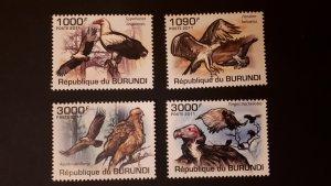 Burundi 2011. - Birds of prey ** MNH complete set (perforated)
