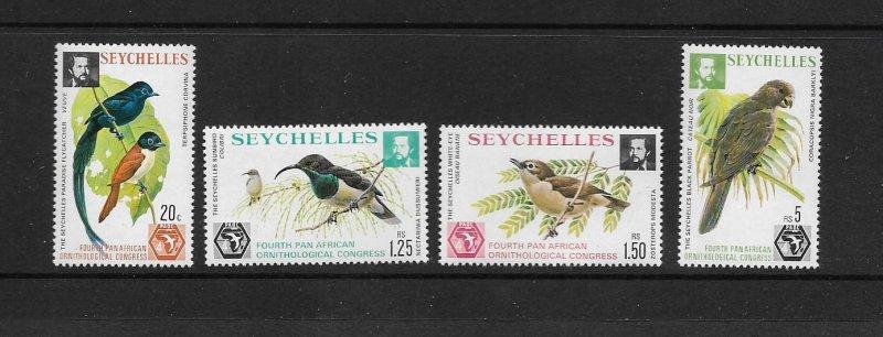 BIRDS - SEYCHELLES #357-60   MNH