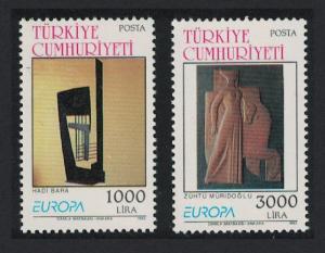 Turkey Europa Contemporary Art 2v 1993 MNH SG#3180-3181
