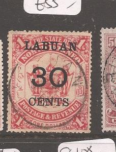Labuan 30c/$1 SG 78 VFU (6auq)