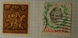 Denmark Christmas Seal WW Charity Seal Poster Stamp