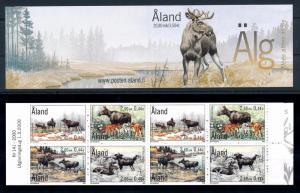 [58611] Aland 2000 Animals Mammel Moose Elk Deer Booklet MNH