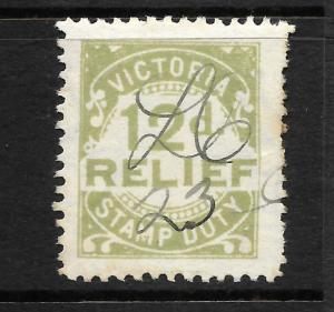 VICTORIA  1930  12d   RELIEF  P11   FU