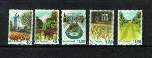 New Zealand: 1996 Scenic Gardens, MNH set