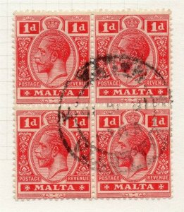 Malta 1914-22 Early Issue Fine Used 1d. 321519