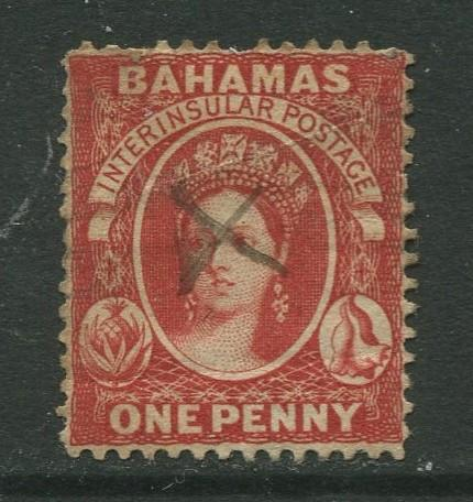 STAMP STATION PERTH Bahamas #? QV Definitive No Wmk.Perf.14 Pen Cancel Used CV$?