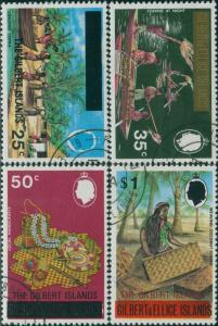 Gilbert Islands 1976 SG19-22 Copra Fishing Handicrafts FU