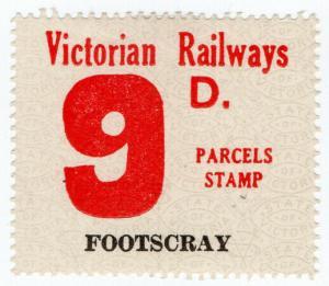 (I.B) Australia - Victoria Railways : Parcel Stamp 9d (Footscray)