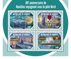 DJIBUTI - 2018 - Travel under North Pole - Perf 4v Sheet - M N H