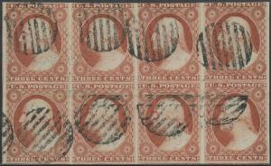 #11 USED BLK/8 POS.62R4 SHOWING GENTS INSTEAD OF CENTS ERROR WLM735 DG