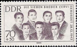 Germany DDR 1962 Sc B97 Socialist Martyrs to Fascist Violence hi val