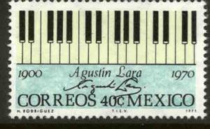 MEXICO 1036 In Memoriam Agustin Lara, Composer. MINT, NH. VF.