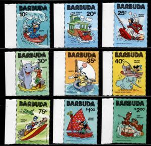 BARBUDA Scott 478-486 MNH**Disney Character set CV#24.80