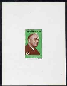 Upper Volta 1970 Roosevelt Anniversary 10f imperf de-luxe...