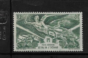 FRENCH POLYNESIA, C10 ,MINT HINGED, VICTORY ISSUE