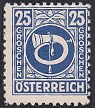 Austria # 4N11 hinged ~ 25g Posthorn