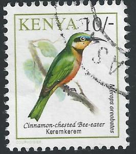 Kenya #604 10sh Bird - Cinnamon Chested Bee Eater
