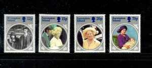 ASCENSION #372-375  1985  QUEEN MOTHER 85TH BORTHDAY     MINT VF NH  O.G
