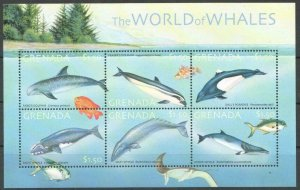 2001 Grenada 4769-4774KL Marine fauna / Whales 9,50 €