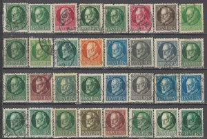 COLLECTION LOT OF #1352 BAVARIA 32  STAMPS 1914+ CV=$64