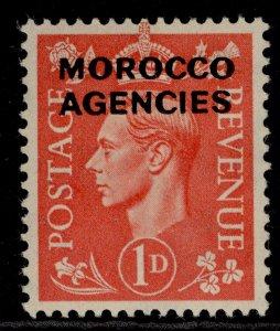 MOROCCO AGENCIES GVI SG78, 1d pale scarlet, M MINT.