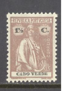 Cape Verde Sc # 176 mint hinged perf 12 X 11 1/2 (RS*)