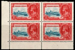 TRINIDAD AND TOBAGO SG240a,3c dp blue&scarlet, LH MINT. Cat £60.EXTRA FLAGSTAFF.