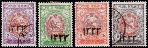P ersia Scott 544-547 (1915) Mint/Used H F-VF, CV $132.00 B