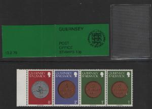 Guernsey  1979 booklet 10 p arms of Guernsey