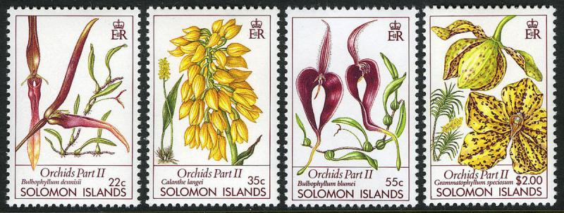 Solomon Islands 631-634, MNH. Orchids, 1989