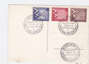 Germany Berlin 1957 Interbau stamps card  R21001