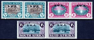 SOUTH WEST AFRICA — SCOTT B9-B11 (SG 111-113) — 1939 HUGUENOT SET — MH — SCV $69
