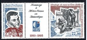 Elusive FSAT Andre Prudhomme-France Issue Sc 189a VF MNH Cat $11