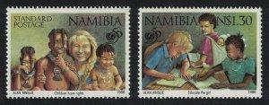 Namibia 50th Anniversary of UNICEF 2v SG#686-687