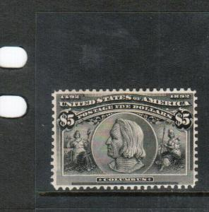 USA #245 Very Fine Mint No Gum Artfully Reperforated - Bright & Fresh