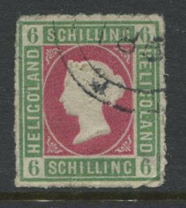 Heligoland QV 1867 6 schillings CDS used