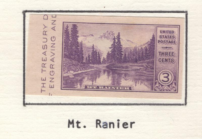 US 1935 National Parks Mt.Ranier Scott 770a MH