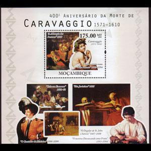 MOZAMBIQUE 2010 - Scott# 2157 S/S Caravaggio Ptg NH