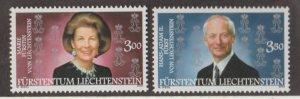 Liechtenstein Scott #1235-1236 Stamps - Mint NH Set