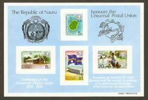 Nauru #117a NH UPU SS