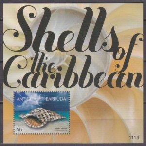 2011 Antigua & Barbuda 4922/B683 Sea shells