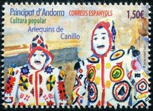 HERRICKSTAMP NEW ISSSUES ANDORRA-SPANISH Harlequins of Canillo