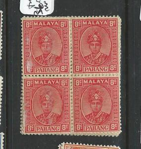 MALAYA PAHANG (P1301B) 8C SG 36   BL OF 4  MNH