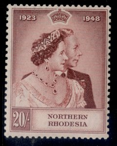 NORTHERN RHODESIA GVI SG49, 20s brown-lake, M MINT. Cat £110.