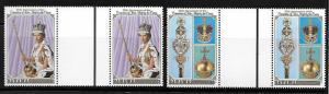 Bahamas 1978 Coronation of QE II Crown Gutter Pair MNH B45