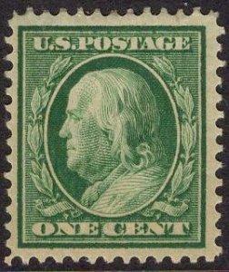 US Stamp #331 1c Washington/Franklin MINT Hinged SCV $6.25