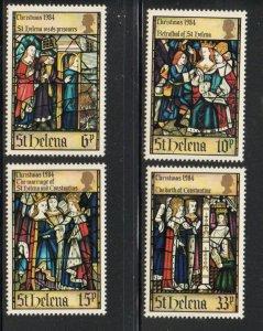 St Helena Sc 424-27 1984 Christmas stamp set mint NH