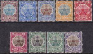 Bermuda 1906 SC 31-39 MLH Set