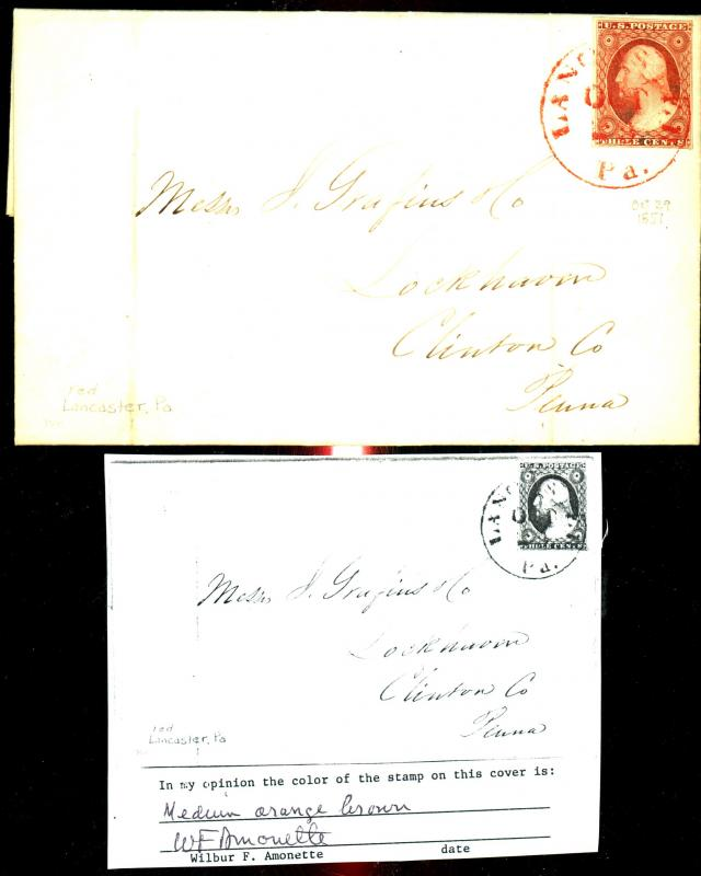 U.S. # 10A Used On COver Red Cancel